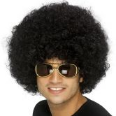 Funky Afro Wig 70's Disco Black