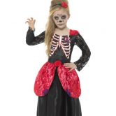 Deluxe Day of the Dead Girl Child Costume
