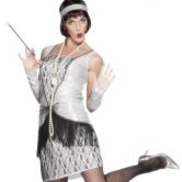 Silver Flapper 1920's Adult Costume