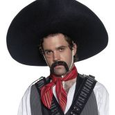 Authentic Mexican Bandit Sombrero, Black