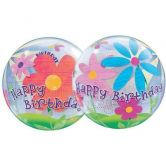 Birthday Funky Flowers 3D Bubble Balloons 22