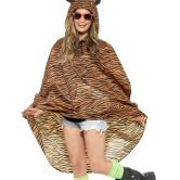 Tiger Party Poncho, Shower Resistant