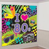 Totally 80s Scene Setters Wall Decorating Kit