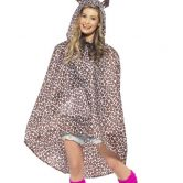 Leopard Party Poncho, Shower Resistant