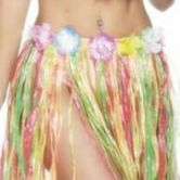 Hula Skirt Multi Coloured with Flowers 46cm