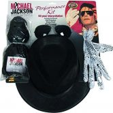 Official Michael Jackson Accessory Kit - Wig, Hat, Glove and Glasses