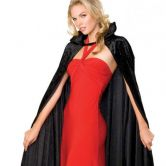 Long Crushed Velvet Cape Adult Costume