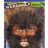 Werewolf Face Hair Kit, Brown,