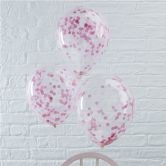 Pink Confetti Filled Balloon