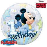 Mickey Mouse 1st Birthday Bubble Balloon 22