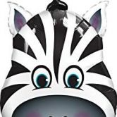 Happium - Zebra 32 inch Large Foil Balloon - Jungle Animals Party