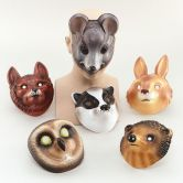 Woodland Masks Plastic | Mouse | Fox | Badger | Rabbit | Owl | Weazel | Hedgehog