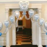 Elegant Classic Wedding Entrance Pedestal Arch
