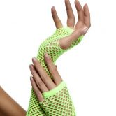 Fishnet Gloves Neon Green