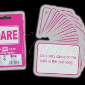 Dare Cards Hen Night Games for Girls Pink