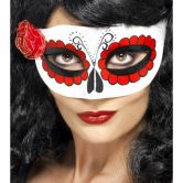 Mexican Day Of The Dead Eyemask, with Rose