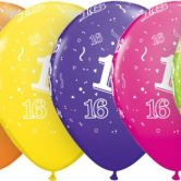 16-A-Round helium filled latex balloon