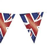 Sold Out -  Party 12ft Plastic Best of British Union Jack Bunting Flags