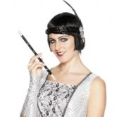 Cigarette Holder Black Sequinned
