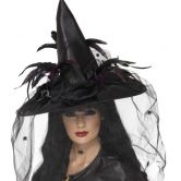 Witch Hat, Feathers and Netting