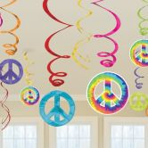 60s Groovy Swirls Decorations - 6 PKG/12