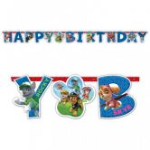 Paw Patrol Party Letter Banner