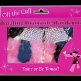 Pink Diamante Hand Cuffs