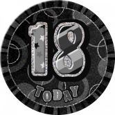 Dazzling Effects 18th Birthday Badge - Black 6