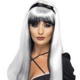 Bewitching Wig, White & Black