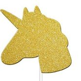 Gold Glitter Unicorn Cupcake Toppers