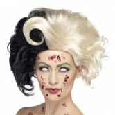 Evil Madame Wig, Black & Blonde