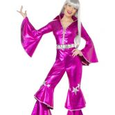 Dancing Dream 1970's Pink Jumpsuit Adult Costume