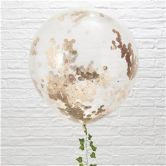 Giant Rose Gold Confetti Balloons - 36