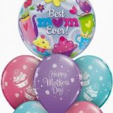 Mother's Day Bubble Bouquet Display - includes high float