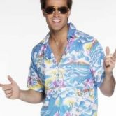 Hawaiian Shirt Blue Adult Costume