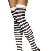 Hold ups Striped Adult  Black/White