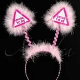Pink Bride to Be Warning Sign Head Bopper