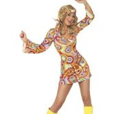 1960's Hippy Chick Adult Fever Costume