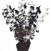 Dazzling Effects 16th Black Foil Centrepiece - Table Decoration