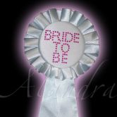 White Bride To Be Diamante Rosette