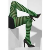 Striped Tights Adult Black/Green