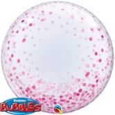 Confetti Printed Pink Bubble Balloon