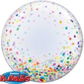 Confetti Printed Multi-Coloured Bubble Balloon