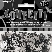 Black Glitz 18th Birthday Confetti