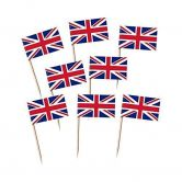 Union Jack Flag Cocktail Picks for Cupcakes, Canapés etc