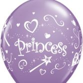 Princess helium filled latex balloon
