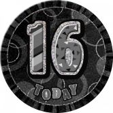 Dazzling Effects 16th Birthday Badge - Black 6