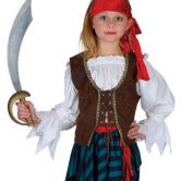 Caribbean Pirate Girl Child Costume