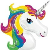 Unicorn Head Helium Foil Balloon Supershape 38