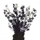 Dazzling Effects 70th Black Foil Centrepiece - Table Decoration